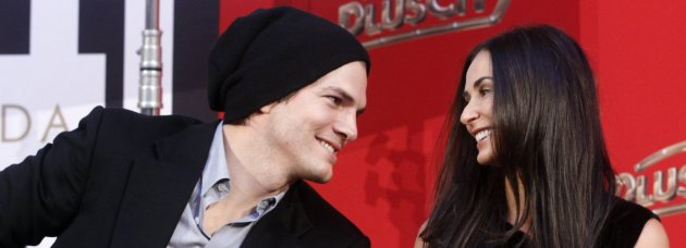 Demi Moore & Ashton Kutcher in Austria