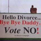The divorce amendments were carried by a slim majority after a vote in June 1995. Image: Photocall Ireland