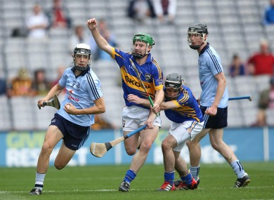 Dublin's Eoghan O'Donnell is chased by Tipperary's Jack Shelly.