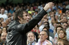 VIDEO: Don't look back in anger… but Liam Gallagher was kicked out of the Bernabeu last night