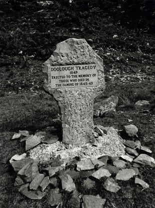 A memorial erected in Mayo to those who died in the famine from 1845 to 1849 and in the Doolough Tragedy of 1849.