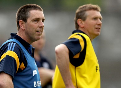 Clare U21 joint managers Gerry O'Connor and Donal Moloney.