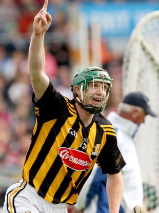 Kilkenny's Henry Shefflin celebrates scoring his second goal in this year's All-Ireland quarter-final against Limerick.