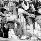 Fans crushed against the fence at Hillsborough. (Photo: David Giles/PA Wire)