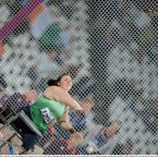 4 September 2012; Ireland's Orla Barry, from Ladysbridge, Cork, competes in the women's discus throw F57/58 final where she went on to win a bronze medal. London 2012 Paralympic Games, Discus Throw, Olympic Stadium, Olympic Park, Stratford, London, England. Picture credit: Brian Lawless / SPORTSFILE
