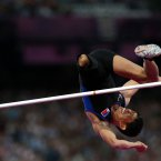 Philippines Andy Avellana during the Men's High jump F42 category in the Olympic Stadium.  PRESS ASSOCIATION Photo. Picture date: Monday September 3, 2012. See PA story PARALYMPICS Athletics. Photo credit: David Davies/PA Wire