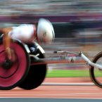 Great Britain's Jade Jones during her Women's 800m T54 heat at the Olympic Stadium, London.
