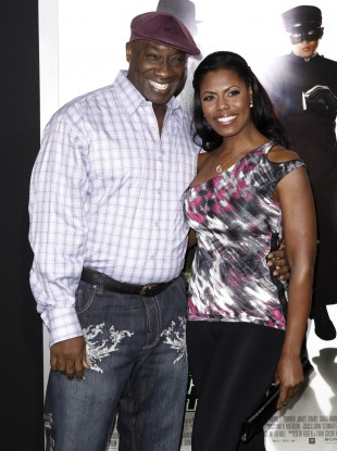Michael Clarke Duncan with his fiancée Omarosa Manigault.