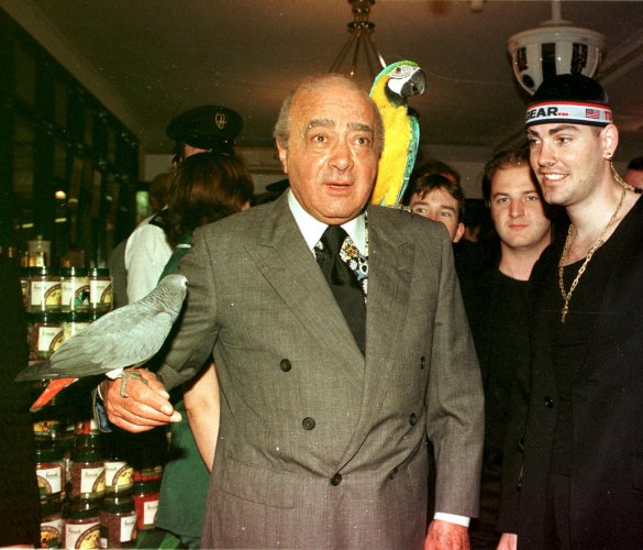 MOHAMED AL-FAYED & SHANE LYNCH HARRODS SALE