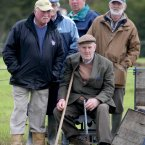 Patrons watch the action during the National Ploughing Championships at New Ross, Co Wexford. (Niall Carson/PA Wire)