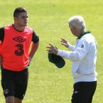 Manchester United winger Robbie Brady during his first session with the senior squad.