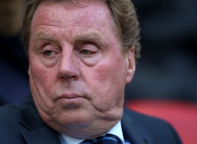 Harry Redknapp: looking for work.