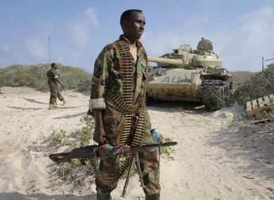 A Somali government soldier.