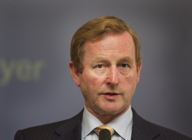 Fine Gael leader and Taoiseach Enda Kenny