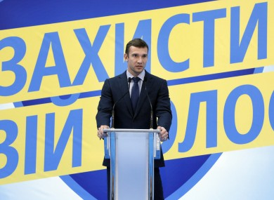 Andriy Shevchenko: will he score in the polls this weekend?
