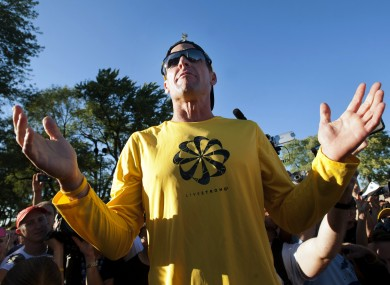 Lance Armstrong prior to a run in Montreal in August.