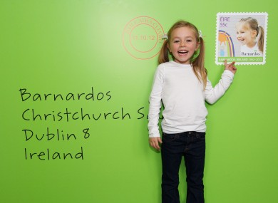 Pictured at the launch is five-year-old Swords girl Hannah Mahony