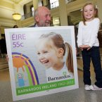 Pictured at the launch is Hannah Mahony from Swords with Fergus Finlay (Barnardos Chief Executive) ©Patrick Bolger 2012