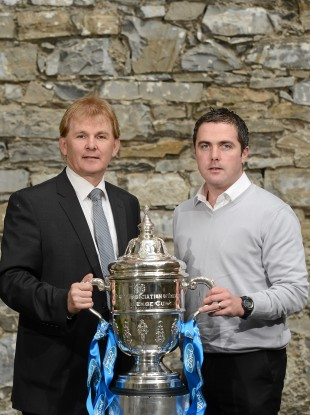 Underdog story: Kierans, right, with St Pat's manager Liam Buckley.