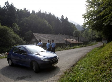 Authorities block access to the site where the shooting occurred (File photo)