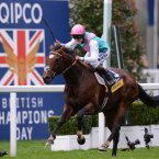 Frankel, ridden by Tom Queally, wins of the Qipco Champion Stakes during QIPCO British Champions Day at Ascot Racecourse, Ascot to make it 14/14. Credit: PA Wire/PA Wire/Press Association Images
