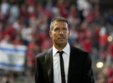 Diego Simeone has led Atletico to joint-top of La Liga.