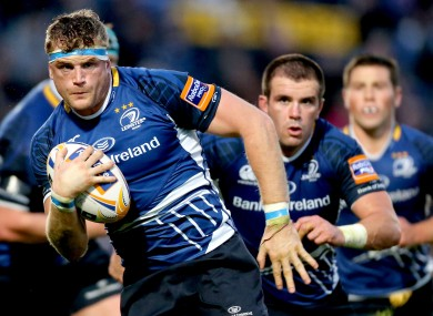 Jamie Heaslip leads Leinster at the Aviva.