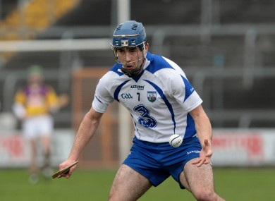 Jamie Nagle was part of a successful Dungarvan side in the Waterford SHC over the weekend.
