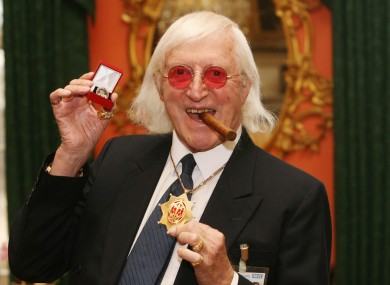 Jimmy Savile pictured in 2008