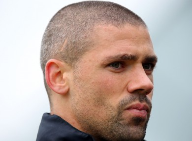 Jonathan Walters speaking to media after training this week.