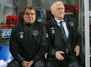 Ireland assistant boss Marco Tardelli and manager Giovanni Trapattoni.