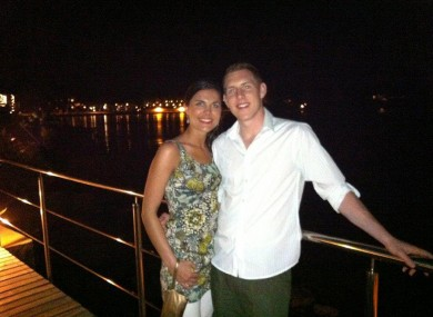 Michaela and John while on honeymoon in January 2011