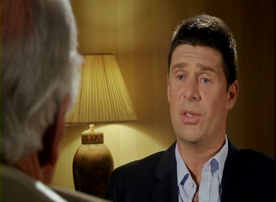 Niall Quinn, right, speaks to Gay Byrne. The Meaning of Life airs tonight on RTÉ 1 at 10.30pm.