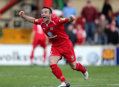 Expect some more of this: Sligo's Raffaele Cretaro celebrates.
