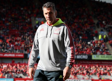 Head coach Rob Penney at Thomond Park last night.