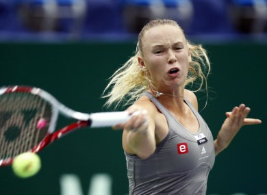 Denmark's Caroline Wozniacki in action during the Kremlin Cup.