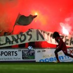 Shamrock Rovers fans at Sligo's home ground.