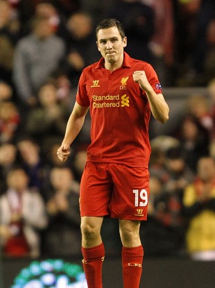 Stewart Downing celebrates his goal.