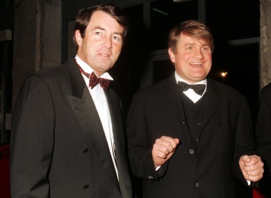File photo: Michael Lowry with Denis O'Brien back in 1997