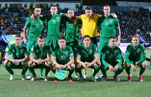 The Republic of Ireland team 16/10/2012