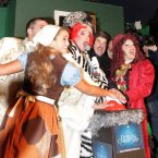 The cast of the Gaiety Theatre panto pictured turning on the Christmas Lights on Grafton Street yesterday evening. Photo Mark Stedman/Photocall Ireland