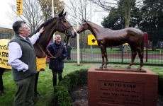Fergie who? Kauto Star gets his own statue at Haydock