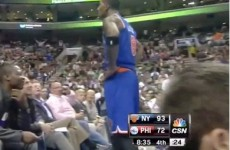 This Knicks player taunted innocent fans after throwing down a huge dunk