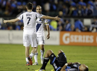 Robbie Keane and Landon Donovan are both selected on the Best XI.