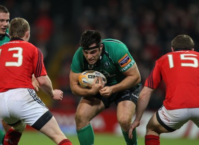 Ronan Loughney in action against Munster.