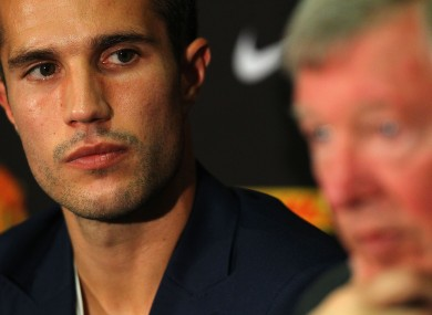 In focus: RVP and United boss Alex Ferguson.