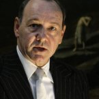 Kevin Spacey looking a bit scary (giving a speech in London in Sept 2009) 
