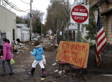 A sign in Staten Island sums up the ill will towards the annual race.