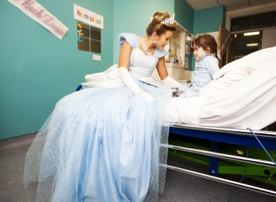 Cinderella from the Gaiety Panto visiting Laura Doyle aged 5 at Temple Street Hospital this week. Nothing to do with comments really, just a sweet photo.