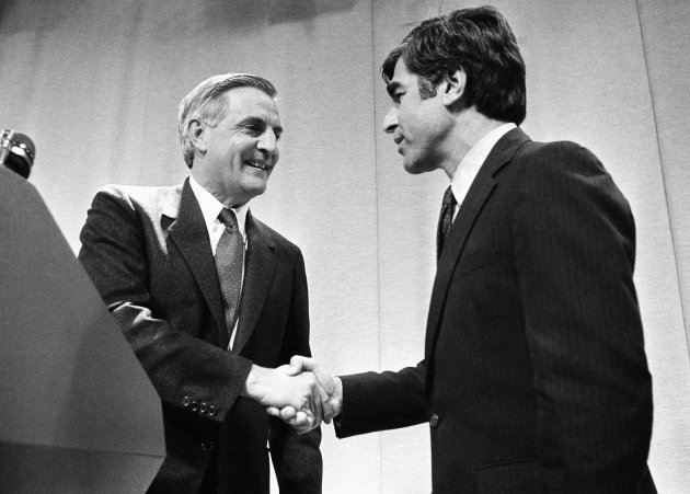 Walter Mondale with Michael Dukakis